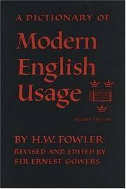 Oxford Fowler's Modern English Usage Dictionary