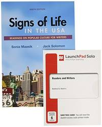 Signs of Life in the USA and LaunchPad Solo for Readers and Writers (Six Months Access)