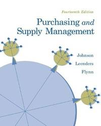 Purchasing and Supply Management (14th Hardcover Edition)