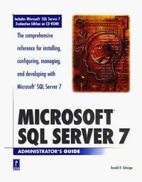 Microsoft SQL Server 7 Administrator's Guide W/CD (Administrator's Guide)