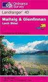 image of Mallaig and Glenfinnan, Loch Shiel (Landranger Maps)