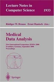 Medical Data Analysis: First International Symposium, Ismda 2000 Frankfurt, Germany, September 29-30, 2000 Proceedings
