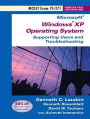 MCDST 70-271: Supporting Users Running the Microsoft windows Operating System
