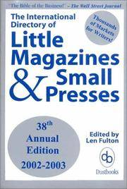 The International Directory of Little Magazines and Small Presses, 2002-2003 Edition