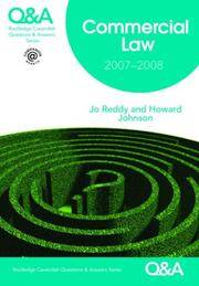 Q&A Commercial Law 2007-2008 (Routledge-Cavendish Questions and Answers)