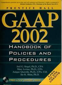 GAAP handbook of policies and procedures, 2002