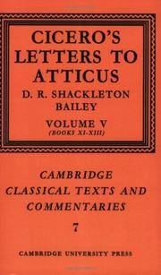 image of Cicero: Letters to Atticus, Vol. 5 (Cambridge Classical Texts and Commentaries)