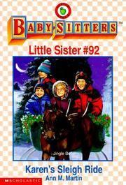 image of Karen's Sleigh Ride: Baby-Sitters Little Sister #92 [babysitters]