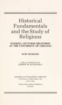 Historical Fundamentals & the Study of Religions
