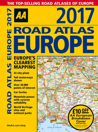 AA 2017 Road Atlas Europe