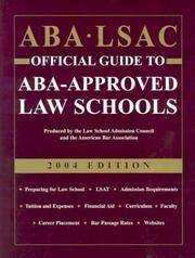 ABA LSAC Official Guide to ABA-Approved Law Schools 2004 (ABA LSAC Official Guide to ABA Approved Law Schools, 2004) by Law School Admission - Paperback - 2003-03-01 - from Cronus Books, LLC. (SKU: SKU1014854)