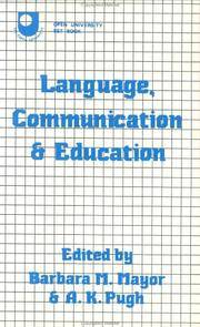 Language, Communication and Education: A Reader by MAYOR Barbara M & PUGH AK (Eds) - Paperback - First Edition - from G. & J. CHESTERS and Biblio.com