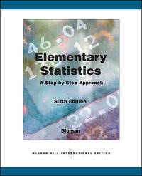 image of ELEMENTARY STATISTICS: A STEP BY STEP APPROACH (INTERNATIONAL EDITION) 6TH EDITION