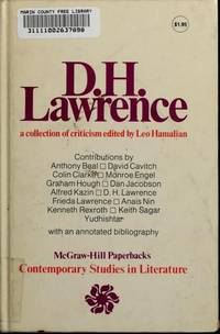 D.H.Lawrence (Contemporary Studies in Literature) by Leo Hamalian - 1973-01-01 - from Books Express (SKU: 007025690X)