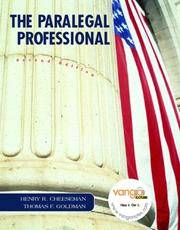 The Paralegal Professional by  Thomas F  Henry R.; Goldman - Hardcover - 2007-01-07 - from Universal Textbook (SKU: PART001664)