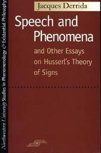 Speech and Phenomena