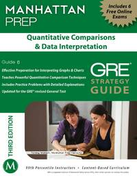 Quantitative Comparisons & Data Interpretation GRE Strategy Guide, 3rd Edition (Manhattan Instructional Guides) by  - Manhattan Prep - Paperback - 2012-07-03 - from Cronus Books, LLC. (SKU: SKU1006371)