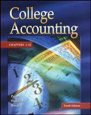 Update Edition of College Accounting : Chapters 1-32 W/ NT and PW