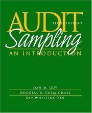 Audit Sampling: An Introduction by Dan M. Guy; D. R. Carmichael; O. Ray Whittington - Paperback - 2001-11-29 - from BooksEntirely and Biblio.com