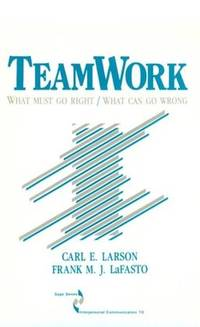 Teamwork : What Must Go Right - What Can Go Wrong 10