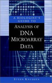 A Biologist's Guide to Analysis of DNA Microarray Data