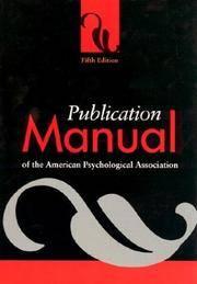 Publication Manual 5th Edition