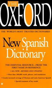 The Oxford new Spanish Dictionary by Oxford University Press (1999-08