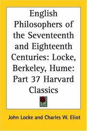English Philosophers of the Seventeenth and Eighteenth Centuries: Locke, Berkeley, Hume (Harvard...