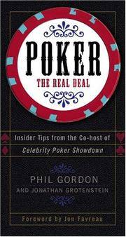 Poker: The Real Deal by  Phil and Jonathan Grotenstein Gordon - Signed First Edition - 2004 - from after-words bookstore and Biblio.com