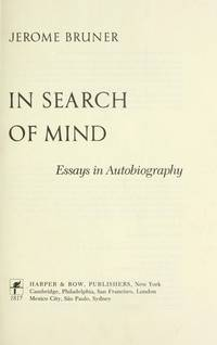 in search of mind essays on autobiography Free biographical essay samples biographical research paper examples get help with writing a biography essay.