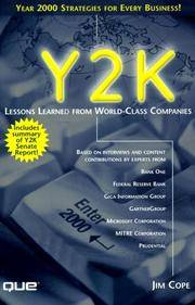 Y2K: Lessons Learned from World-Class Companies