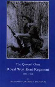 The Queen's Own royal West Kent Regiment 1951-1961
