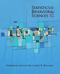 image of Statistics for the Behavioral Sciences - Standalone Book