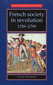 French society in revolution 1789?1799 (New Frontiers) by  David Andress - Paperback - from Russell Books Ltd and Biblio.com
