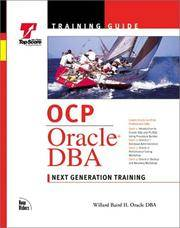 Ocp Training Guide: Oracle Dba (Training Guides (New Riders))