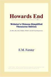 image of Howards End (Webster's Chinese-Simplified Thesaurus Edition) (Chinese Edition)