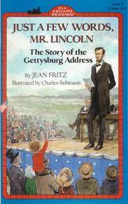 image of Just a Few Words, Mr Lincoln (All Aboard Reading)