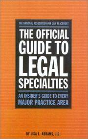 Official Guide to Legal Specialties (Career Guides)