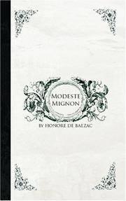 Modeste Mignon (French Edition) by Honore de Balzac - Paperback - 2006-07-12 - from Ergodebooks and Biblio.com