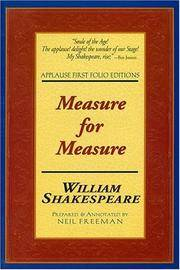 Measure for Measure: Applause First Folio Editions (Applause Shakespeare Library Folio Texts)