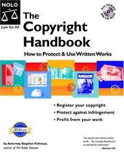 The Copyright Handbook: What You Need to Know