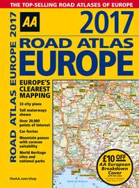 AA Road Atlas Europe 2017