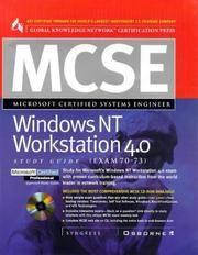 MCSE Windows NT Workstation 4.0 Study Guide