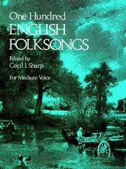 One Hundred English Folksongs for Medium Voice