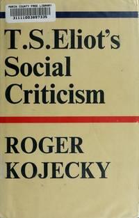 T.S. Eliot's Social Criticism