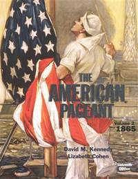 9781305075924 - American Pageant, Volume 2 by David M