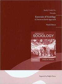 Study Guide For Essentials Of Sociology
