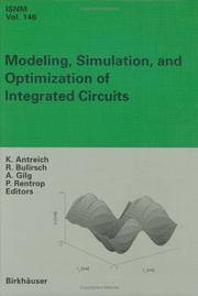 MODELING, SIMULATION AND OPTIMIZATION OF INTEGRATED CIRCUITS: PROCEEDINGS OF A CONFERENCE HELD AT...