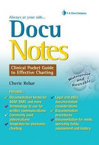 Docunotes Clinical Pocket Guide To Effective Charting By Rebar Rn