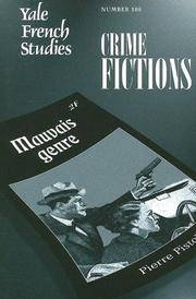Yale French Studies, Number 108  Crime Fictions